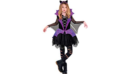 Miss Battiness Vampire Halloween Costume for Girls, Small, with Included Accessories, by Amscan -