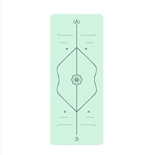 LULIN Yoga mat Non-Slip, Durable, Light Weight/Sports/Gymnastics Fitness mat Home, Green