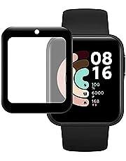 For Xiaomi Mi Watch Lite Screen Protector Smart Watch For Xiaomi Redmi Watch Curved Full Screen Soft Film - Black