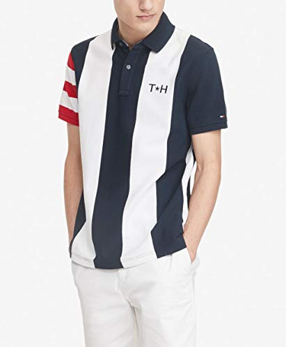 Tommy Hilfiger Men's Flag Pride Polo Shirt in Custom Fit