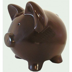 Wall Street Gifts Brown Chocolate Ceramic Piggy Banks - Custom (8 inch Custom) -
