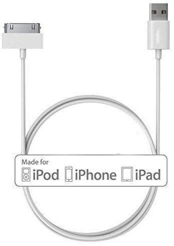 Kimloo 30-Pin to USB Cable for Apple iPhone 4, iPod, and iPad 3rd Generation - 3.2 Feet (1.0 Meter),Black (iPhone 4s)