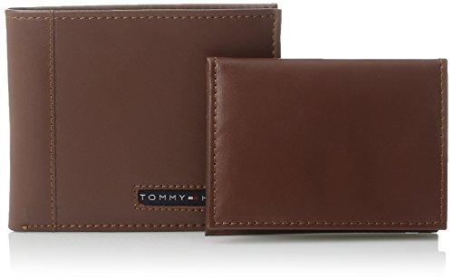 5451e82e94c Tommy Hilfiger Men's Leather Cambridge Passcase Wallet With Removable Card  Case,Tan,