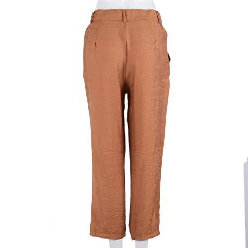 Bolsillo Para Color Alta Del us S Caqui Lápiz Ejército 4 Verde Mujer Sólido Pantalones Confort Con Botón De Sodial Cintura uk 8 p8PqXzwz