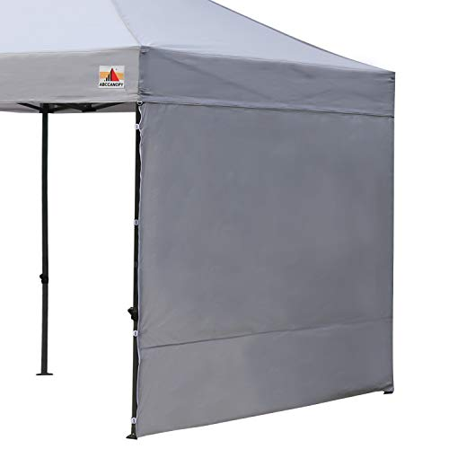 ABCCANOPY Sun Shelter Side Wall Instant Canopy Sun Wall Attaches to 10 X 10 Pop-Up Tent Canopy Straight Leg 10 X 20 Tents 1 Pack, Gray