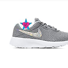 731d343eeb Rhinestone Crystal Little Kid Gray Nike Tanjun Sneakers. $100.00. Rhinestone  Crystal Bedazzled Girls' Nike Pink Rainbow ...
