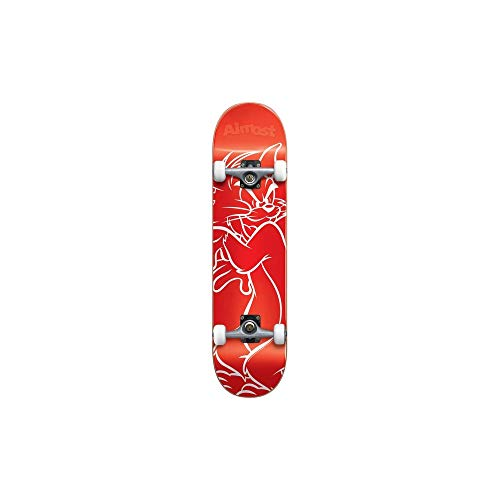 Almost Tom White Lines Youth Premium Complete Skateboard,Red,29.0