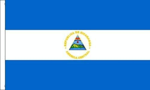 Flagmania® - Bandera de Nicaragua para Barcos (45 cm x 30 cm + 59 mm): Amazon.es: Jardín