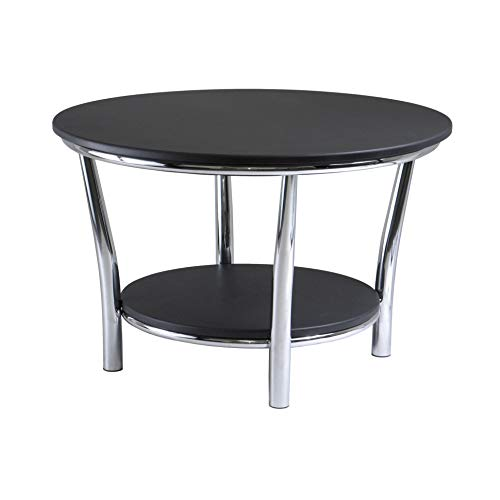 - Winsome Wood 93230 Maya Occasional Table, Black/Metal
