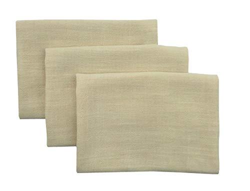 (Mia'sDream Tea Towels Dish Cloths Cotton Linen Hand Towels Kitchen Dish Tea Cloth Towels Set of 3 Pack 16