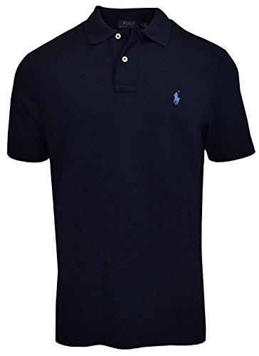 Polo Ralph Lauren Mens Classic Fit Mesh Polo Shirt, Newport Navy, ()