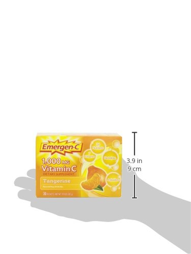 076314302024 - Emergen-C Vitamin C Drink Mix Packets Tangerine 30 Each (Pack of 6) carousel main 10