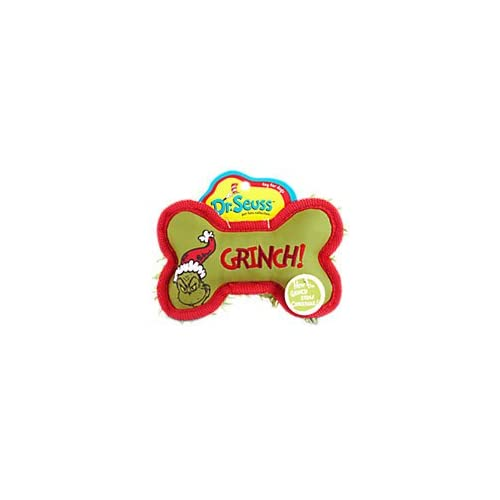 Grinch Stole Christmas Dog.Dr Seuss How The Grinch Stole Christmas Grinch Plush Bone