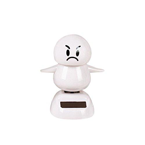 Ratchet Girl Halloween Costume (Christmas Snowman Solar Powered Shaking Head Dancing Animal Swinging Car Decor Emoji,Sulear White I)