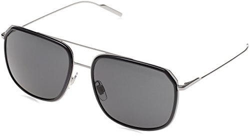 Dolce & Gabbana  Men's DG2165 Grey/Gunmetal/Gray Sunglasses by Dolce & Gabbana