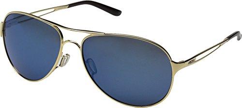 Oakley Women's Caveat Aviator Eyeglasses,Polished Gold/Ice Iridium,60 mm (Oakley Ice Iridium compare prices)
