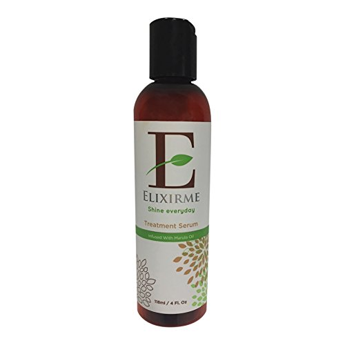 Elixirme-Anti Frizz Hair Treatment Serum For Damaged, Dry, Colored Hair. Add Shine, Protect, Rejuvenate, Strengthen and Restore. Infused with Marula, Avocado and Sweet Almond Oil- 4.oz