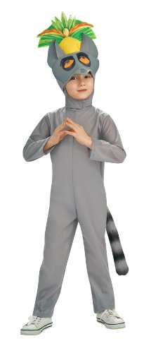 [The Penguins of Madagascar Deluxe King Julien Toddler Costume 2-4T] (King Toddler Costume)