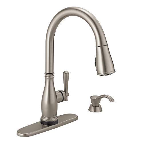 Delta Charmaine Single-Handle Pull-Down Sprayer Kitchen Faucet with Touch2O and ShieldSpray Technologies in Stainless -  19962TZ-SSSD-DST