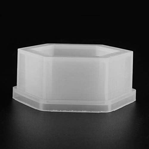 Fogun Hexagon Maceta de silicona para jard/ín moldes de jab/ón cemento jarr/ón