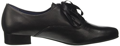 Julie Oxford BLU Di Negro Black Cordones de 01 Pinto Zapatos para Mujer Sq15dq6