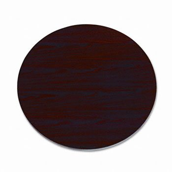HON LD42GN - Laminate Round Table Top, 42 Diameter, Mahogany