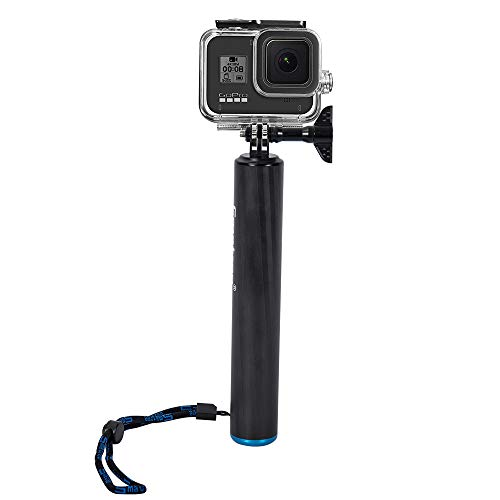 Smatree F2 Waterproof Floating Carbon Fiber Selfie Stick Compatible for GoPro Hero/8/7/6/5/4/3 Plus/3/2/1/DJI OSMO Action (Carbon Fiber 1 8)