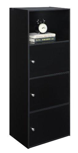 Convenience Concepts Designs2Go X-Tra Storage 3-Door Cabinet, Black