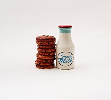Milk and Cookies Lover Ceramic Magnetic Salt and Pepper Shakers