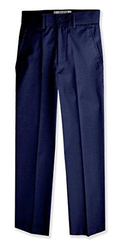 Boys Flat Front Slacks Slim Fit Dress Pants #JL36 (3T, - Slacks Front Dress Flat