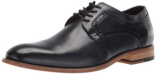 STACY ADAMS Men's Dickens Plain Toe Lace-Up Oxford, Indigo 7 M US - Indigo Shoes Com