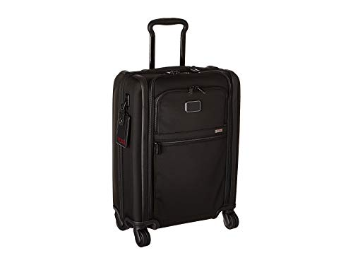 TUMI - Alpha 3 International 4 Wheeled Slim Carry-On Luggage- 22 Inch Rolling Suitcase for Men and Women - Black Ballistic Nylon Luggage Sets