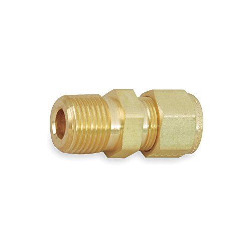 Parker CPI 6-6 FBZ-B Brass Compression Tube Fitting, Adapter, 3/8