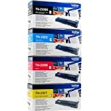 Brother TN-230 Cartouche toner Pack 4 toners Jaune, Cyan, Magenta, Noir