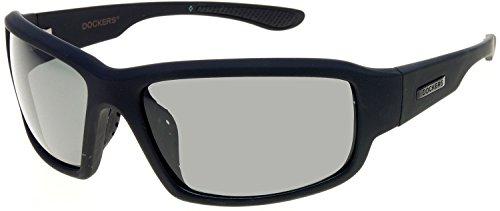 Dockers Mens Polarized Black Wrap Sunglasses One Size - Sunglasses Docker