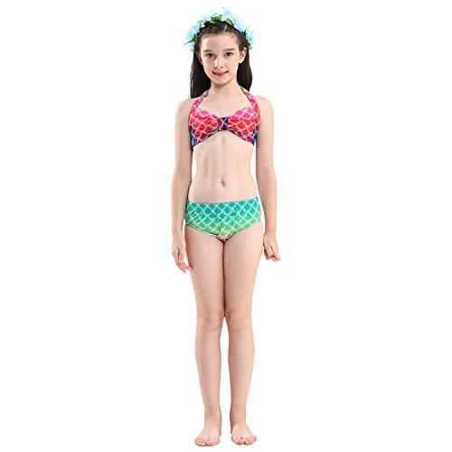 La 4pcs Maillot Das Monofin Pour Costume Bikini Beste Avec Filles Queues Monopalme A13 Déguisement 2018nouveau Bain Natation De Shark Style Mermaid Ensembles Sirène Cosplay Tail v4BwqE4