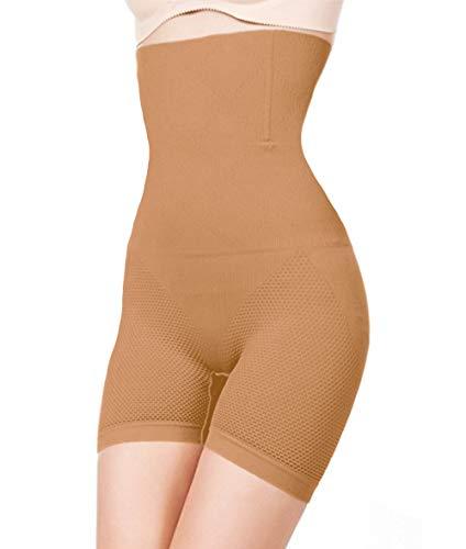 ShaperQueen 102E Best Womens Waist Cincher Body Shaper Trimmer Trainer Slimmer Girdle Faja Bodysuit Short Thong Tummy Belly Control Brief Corset Plus Size High-Waist Shapewear Shorts (3XL, Tan (Light)