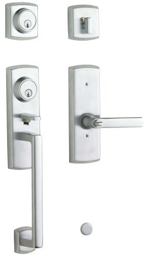Baldwin 85385.264.2LH Soho Two Point Lock Left Hand Handleset with Soho Lever, Satin Chrome by Baldwin