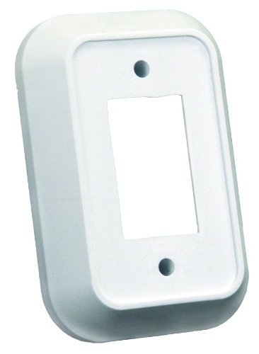 JR Products 13485 Single Switch Wall Spacer - White (Wall Switch Height)