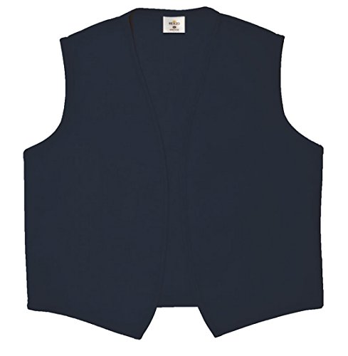 REXZO Unisex Vest No Pocket No Buttons– Made in The USA - Navy, X-Large