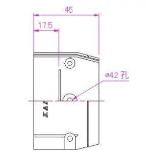 10個セット 配管化粧カバー 端末カバー 66タイプ ブラック KTC-65-B_set