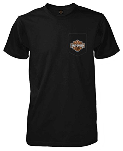 Harley-Davidson Men's Bar & Shield Chest Pocket Short Sleeve T-Shirt, Black (M)