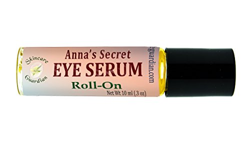 SkinCare Guardian Eye Serum Vitamin E & A Anti Wrinkle Moisturizer Natural Skin Care For Fine Lines, Dark Circles, Sun Damage, Bags, Puffy Eyes, In A Roll On 10 ml. Glass Bottle. (Dark Vitamins Circles For)