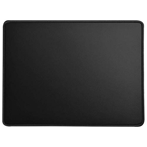 MROCO Large Gaming Mouse Pad with Stitched Edges, Non-Slip Rubber Base, Premium-Textured, Waterproof Mousepad Mouse Mat Mouse Pads for Gamer, Computer, Laptop & Desktop 14 x 11 x 0.12 inches, ()