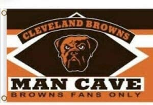 ReddingtonFlags Cleveland Browns Man Cave Flag Banner 3X5 FT Mascot