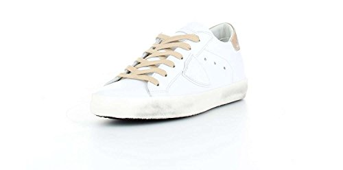 Donna Suede MODEL PHILIPPE Low Sneaker Classic Pelle CLLD1004 Bianca OwCqB