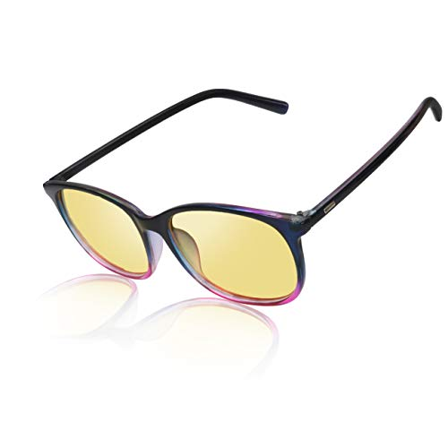 Night Driving Glasses Anti Glare Polarized Women & Men HD Vision Eyeglasses - Purple