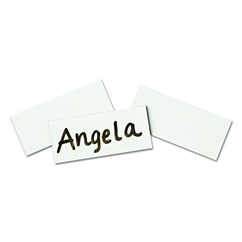 Quartet Magnetic Strips, 7/8-Inch x 2-Inch, Rewritable, White, 25 per pack (MWS)