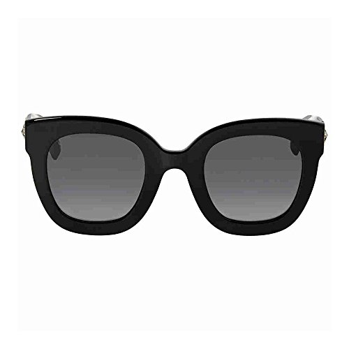 Gucci GG0208S 001 Black GG0208S Butterfly Sunglasses Lens Category 3 Size - Butterfly Gucci Sunglasses With