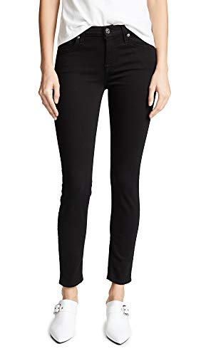 7 For All Mankind Women's (b) air Ankle Skinny Jeans, Black, 28